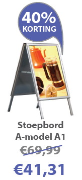 Stoepbord A-model A1 actie