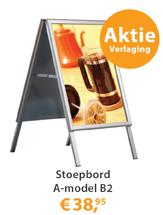 Stoepbord A-model B2 prijsverlaging