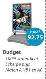 Stoepbord Budget