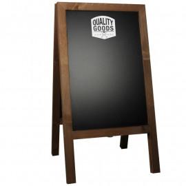 Krijtstoepbord Steigerhout Bruin 46x80cm