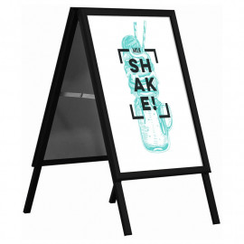 Stoepbord A-model A1 Zwart