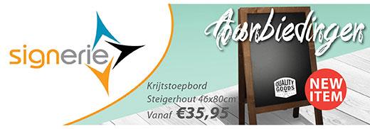 Krijtstoepborden Steigerhout 46x80cm