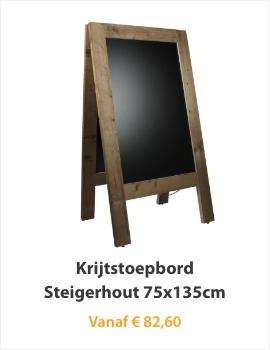 Krijtstoepbord Steigerhout 75x135cm