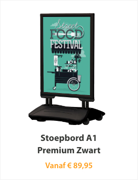 Stoepborden A1 Premium Zwart
