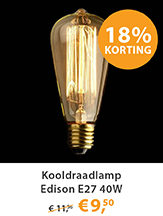 Kooldraadlamp Edison E27 40W
