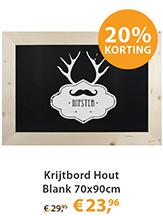 Krijtbord Hout Blank 70x90cm