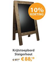 Krijtstoepbord Steigerhout