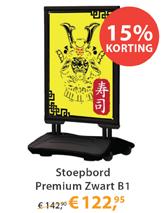 Stoepbord Premium Zwart B1