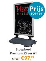 Stoepbord Premium Zilver A1