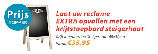 krijtstoepborden steigerhout 46x80