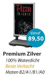 Stoepbord Premium Zilver