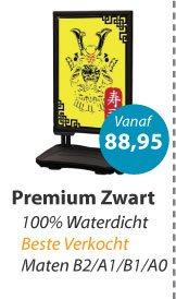 Stoepbord Premium Zwart