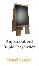 Krijtstoepbord Duplo EasySwitch