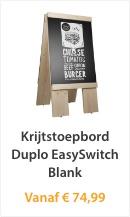 Krijtstoepbord Duplo EasySwitch Blank
