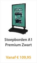 Stoepbord A1 Premium Zwart